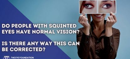 Do people with squinted eyes have normal vision? Is there any way this can be…