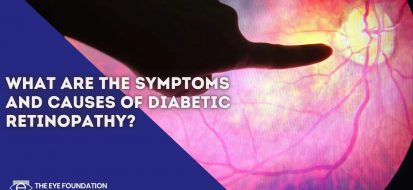 What are the symptoms and causes of diabetic retinopathy?