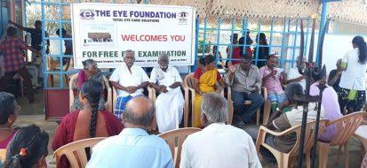 Free cataract surgery camp at Theethipalayam