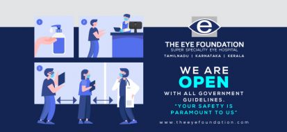 COVID-19, The eye Foundation consider your safety as our priority